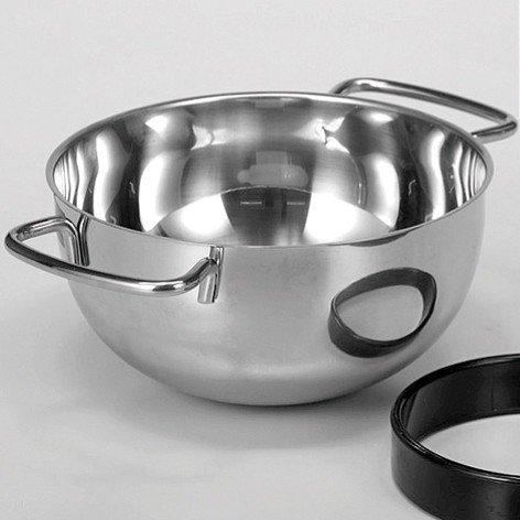 Küchenprofi Edelstahl, Rundschüssel mit 2 Griffen